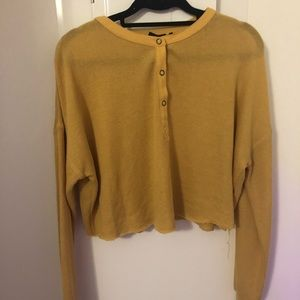 urban outfitters mustard henley sweater (Size M)
